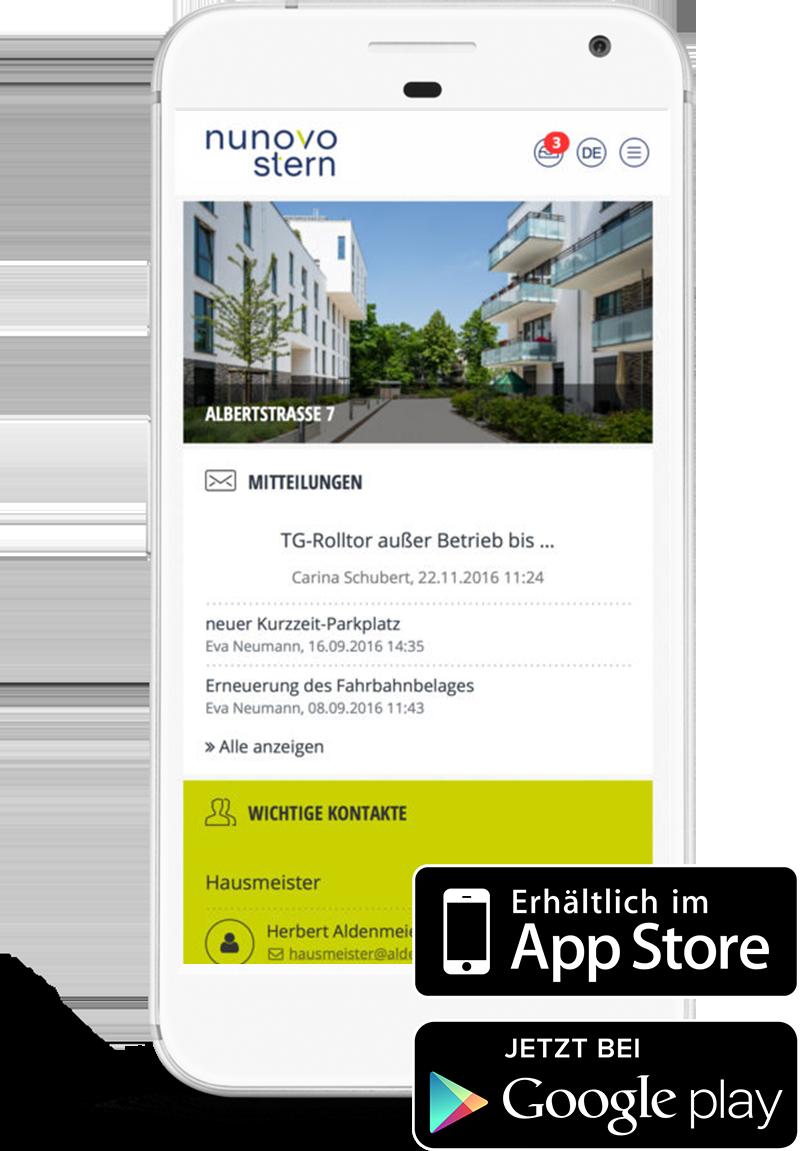 meine.nunovo – das Eigentümerportal App